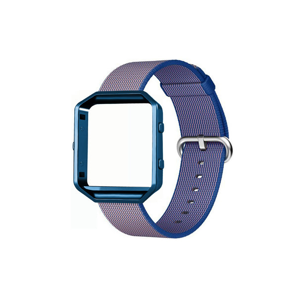 Mobile Mob Fitbit Blaze Woven Nylon Band Replacement & Frame Dark Blue