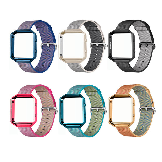 Mobile Mob Fitbit Blaze Woven Nylon Band Replacement & Frame
