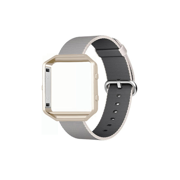 Mobile Mob Fitbit Blaze Woven Nylon Band Replacement & Frame White