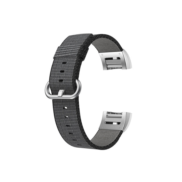 Mobile Mob Fitbit Charge 2 Woven Nylon Band Replacement Straps Black