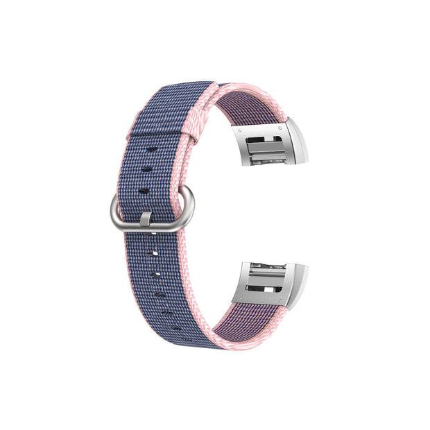 Mobile Mob Fitbit Charge 2 Woven Nylon Band Replacement Straps Blue & Pink