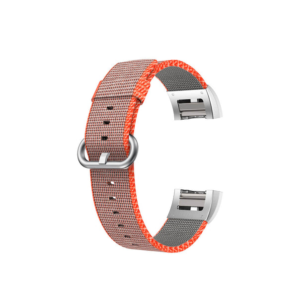 Mobile Mob Fitbit Charge 2 Woven Nylon Band Replacement Straps Orange