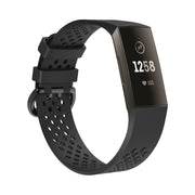 Mobile Mob AirVent Fitbit Charge 3 Bands Replacement Sports Strap with Buckle Small / Black