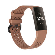 Mobile Mob AirVent Fitbit Charge 3 Bands Replacement Sports Strap with Buckle Small / Brown