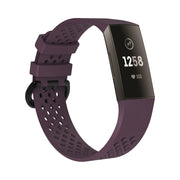 Mobile Mob AirVent Fitbit Charge 3 Bands Replacement Sports Strap with Buckle Small / Dark Purple