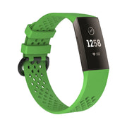 Mobile Mob AirVent Fitbit Charge 3 Bands Replacement Sports Strap with Buckle Small / Green