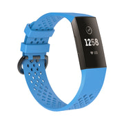 Mobile Mob AirVent Fitbit Charge 3 Bands Replacement Sports Strap with Buckle Small / Light Blue