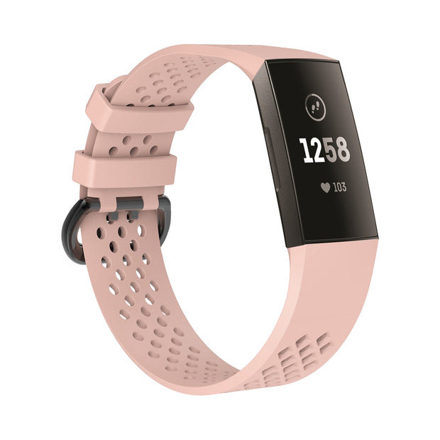 Mobile Mob AirVent Fitbit Charge 3 Bands Replacement Sports Strap with Buckle Small / Light Pink