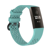 Mobile Mob AirVent Fitbit Charge 3 Bands Replacement Sports Strap with Buckle Small / Teal