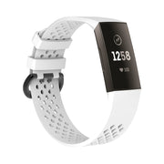Mobile Mob AirVent Fitbit Charge 3 Bands Replacement Sports Strap with Buckle Small / White