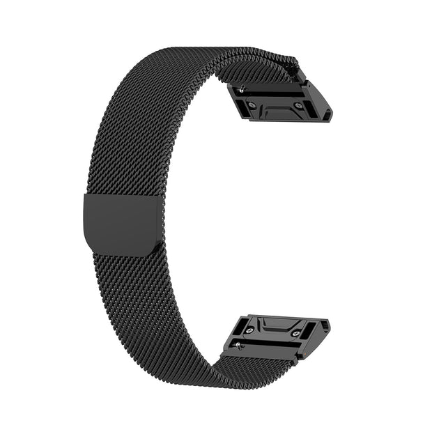 Mobile Mob Milanese Garmin Fenix 5S Band Replacement Magnetic Lock (20mm) Black Night