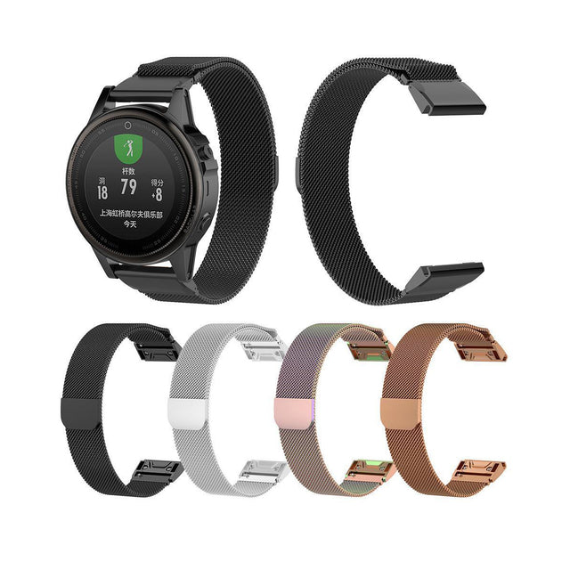 Magnetic Stainless Mesh Milanese StrapD Garmin Fenix 5S Bands (20mm)
