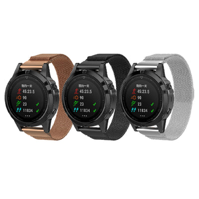 Mobile Mob Milanese Garmin Fenix 3 & Fenix 5X Band Magnetic Lock (26mm)
