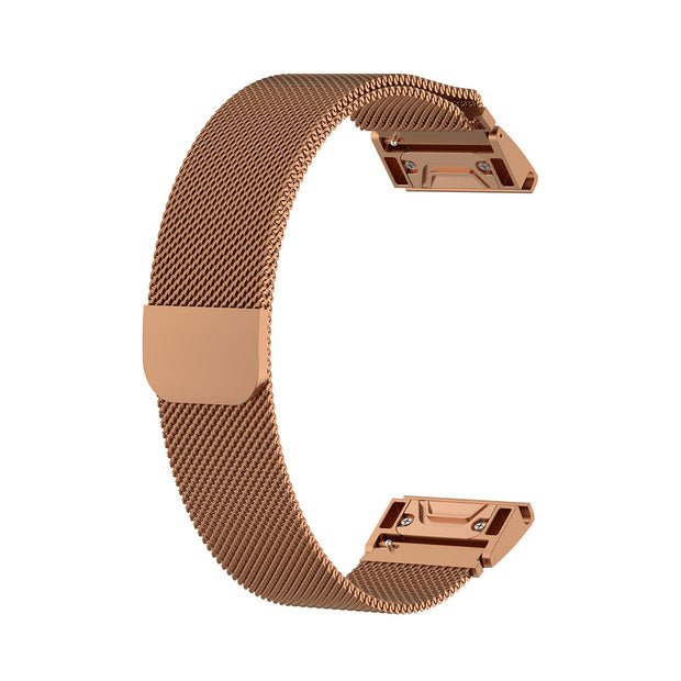Mobile Mob Milanese Garmin Fenix 5S Band Replacement Magnetic Lock (20mm) Rose-Gold