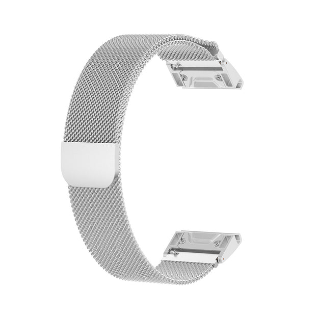 Mobile Mob Milanese Garmin Fenix 5S Band Replacement Magnetic Lock (20mm) Silver Steel