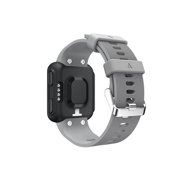 Mobile Mob Garmin Forerunner 35 Bands Replacement Strap Kit with Stainless Buckle Smoke Grey
