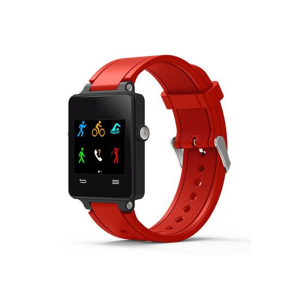 Mobile Mob Garmin Vivoactive Acetate Replacement Bands Strap with Stainless Buckle Red
