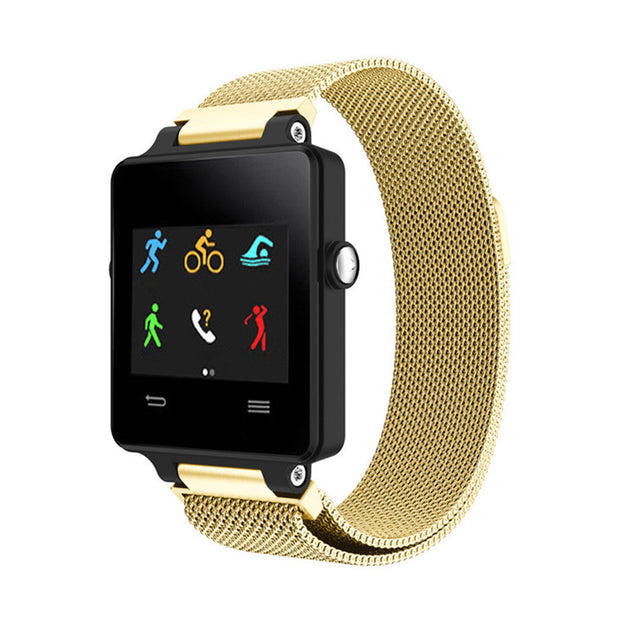 Mobile Mob Milanese Garmin Vivoactive Band Replacement Magnetic Lock Gold Honour