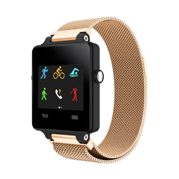 Mobile Mob Milanese Garmin Vivoactive Band Replacement Magnetic Lock Rose Gold
