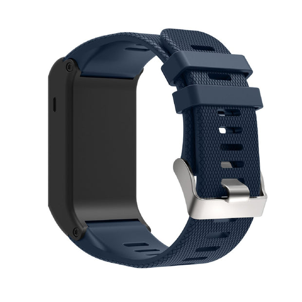 Mobile Mob Garmin Vivoactive HR Replacement Bands Strap with Stainless Buckle Navy Blue