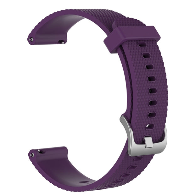 Mobile Mob Garmin Vivoactive 3 Vivomove HR Forerunner 645 Replacement Bands Strap (20mm) Small / Dark Purple