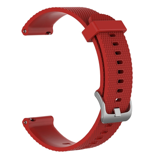 Mobile Mob Garmin Vivoactive 3 Vivomove HR Forerunner 645 Replacement Bands Strap (20mm) Small / Red