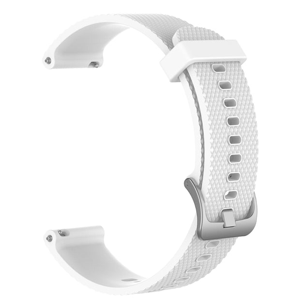 Mobile Mob Garmin Vivoactive 3 Vivomove HR Forerunner 645 Replacement Bands Strap (20mm) Small / White