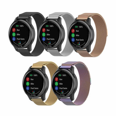 Milanese Vivoactive 3 Vivomove HR Forerunner 645 Bands Magnetic Lock (20mm)