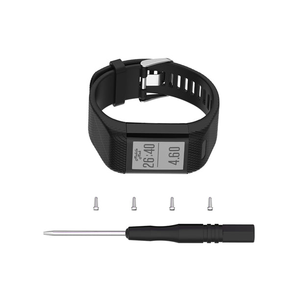 Mobile Mob Garmin Vivosmart HR+ Plus Replacement Bands Strap Black