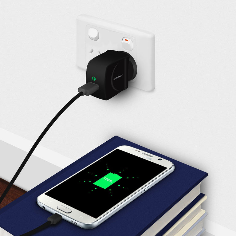 1-Port GorillaPower QC Quick Charge 2.0 USB Wall Charger (3.0A)