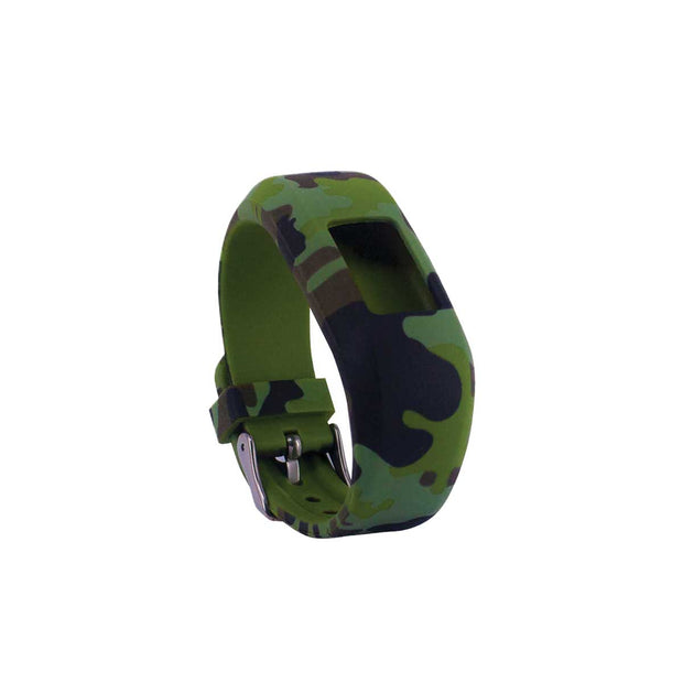 Mobile Mob Camo Garmin Vivofit Jr & Jr 2 Replacement Bands Strap With Buckle Green