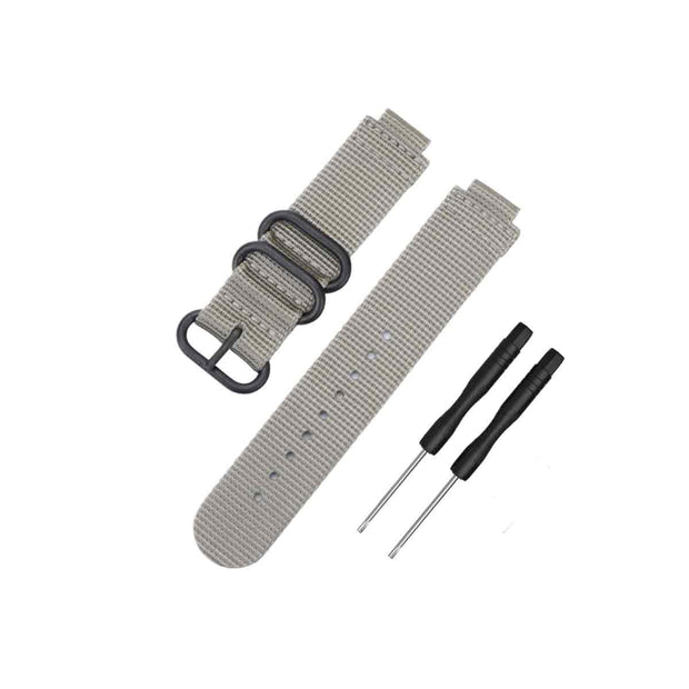 Mobile Mob NATO Garmin Forerunner 230/235/630/220/620/735 Replacement Bands Grey