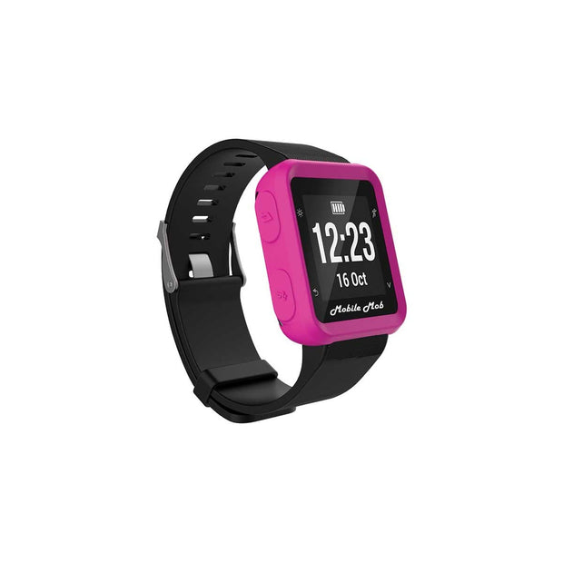Mobile Mob Shockproof Garmin Forerunner 35 Protective Cover Case Hot Pink