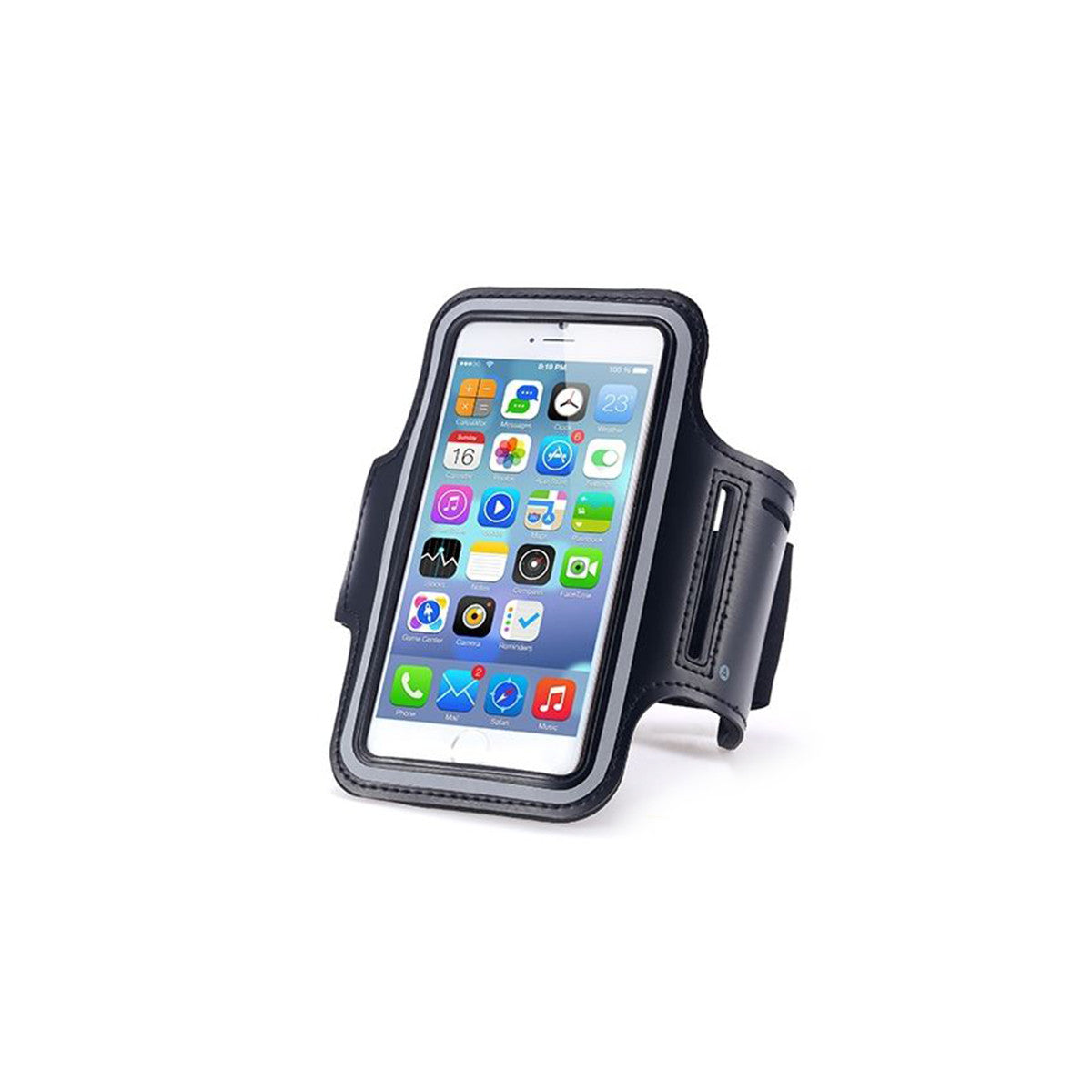 "Sport Gym Running Jogging Armband For Apple iPhone 6 Plus 5.5"" black"
