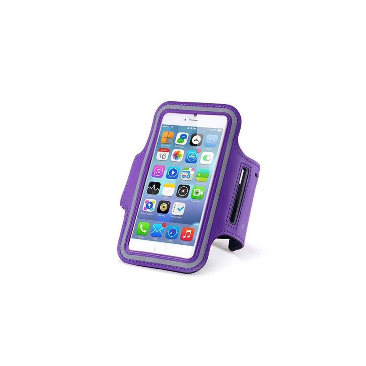 "Sport Gym Running Jogging Armband For Apple iPhone 6 Plus 5.5"" purple"