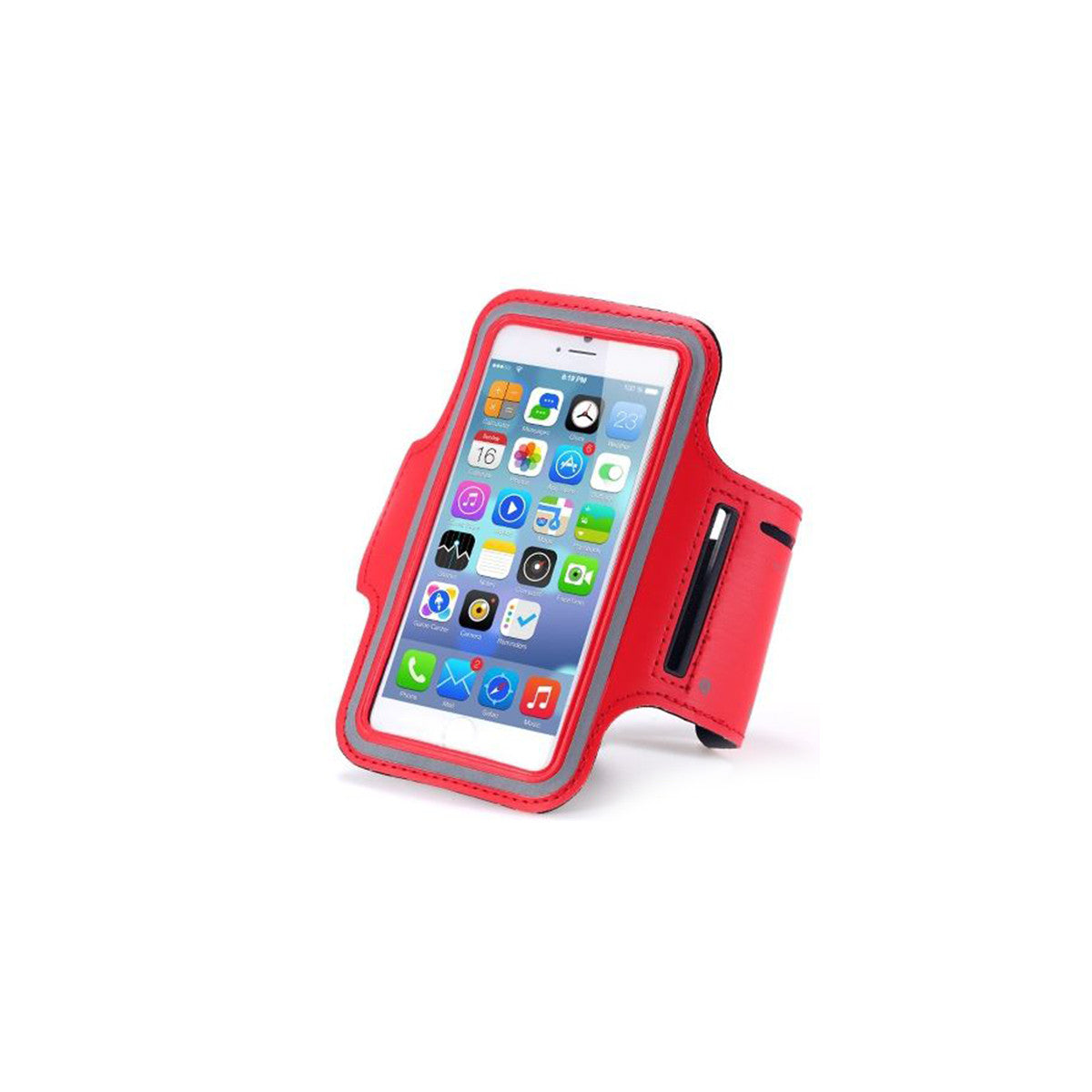 "Sport Gym Running Jogging Armband For Apple iPhone 6 Plus 5.5"" red"