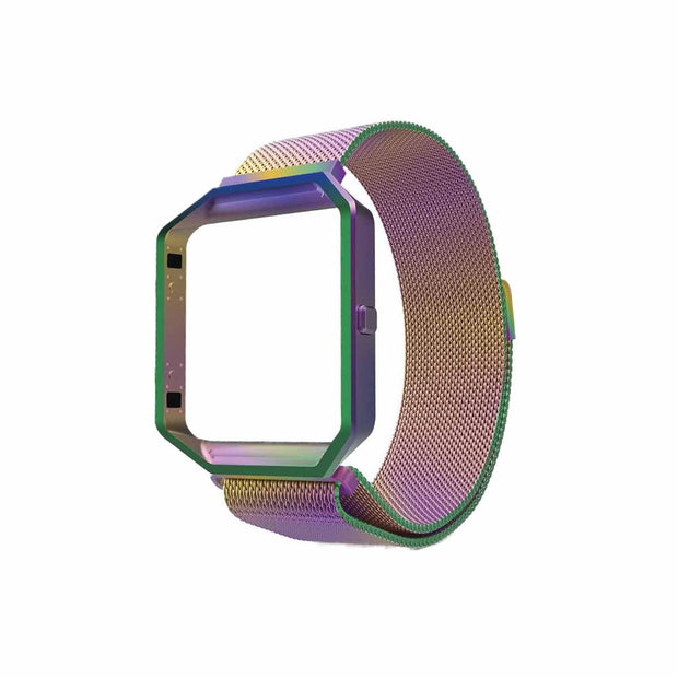 Mobile Mob Milanese Fitbit Blaze Band Replacement Magnetic Lock With Frame Iridescent