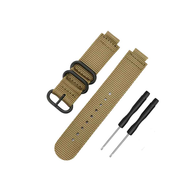 Mobile Mob NATO Garmin Forerunner 230/235/630/220/620/735 Replacement Bands Khaki