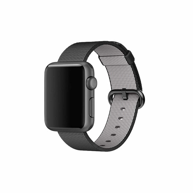 Mobile Mob Apple Watch Woven Nylon Band Replacement Straps 38MM/40MM / Black