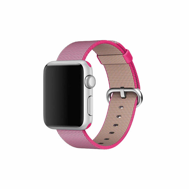 Mobile Mob Apple Watch Woven Nylon Band Replacement Straps 38MM/40MM / Bright Pink