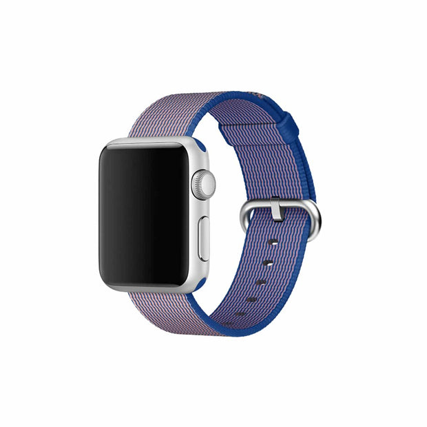 Mobile Mob Apple Watch Woven Nylon Band Replacement Straps 38MM/40MM / Royal Blue