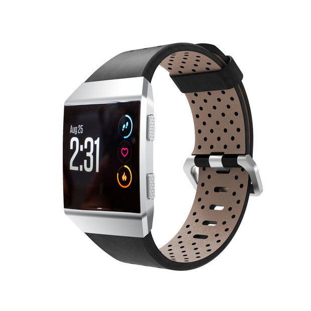 Mobile Mob Leather Fitbit Ionic Band Replacement Strap Small / Black