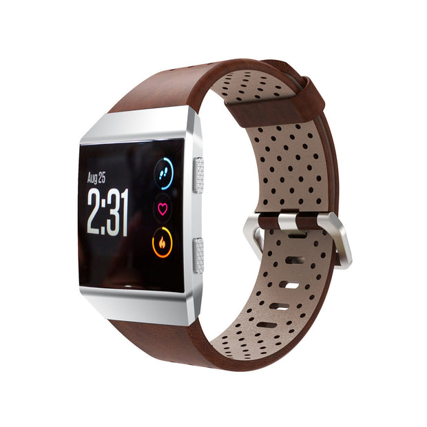 Mobile Mob Leather Fitbit Ionic Band Replacement Strap Small / Brown