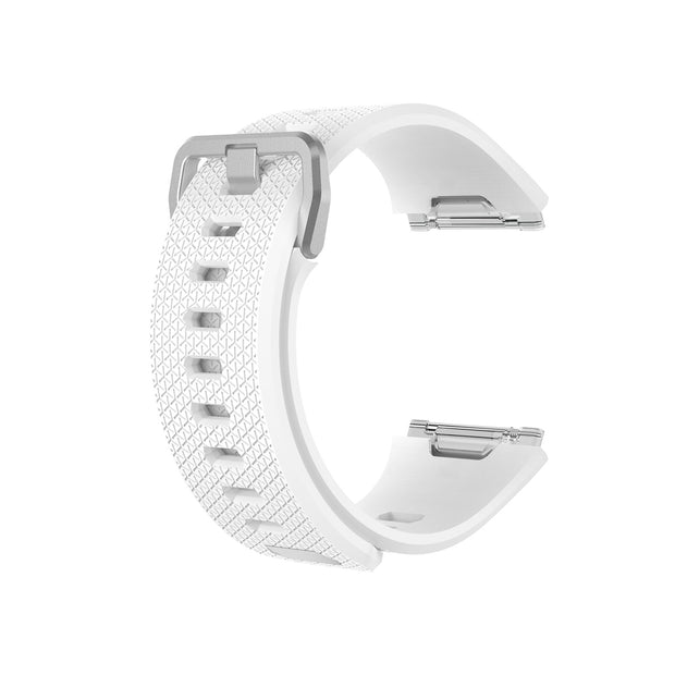 Mobile Mob Fitbit Ionic Classic Band Replacement Strap with Buckle Small / White
