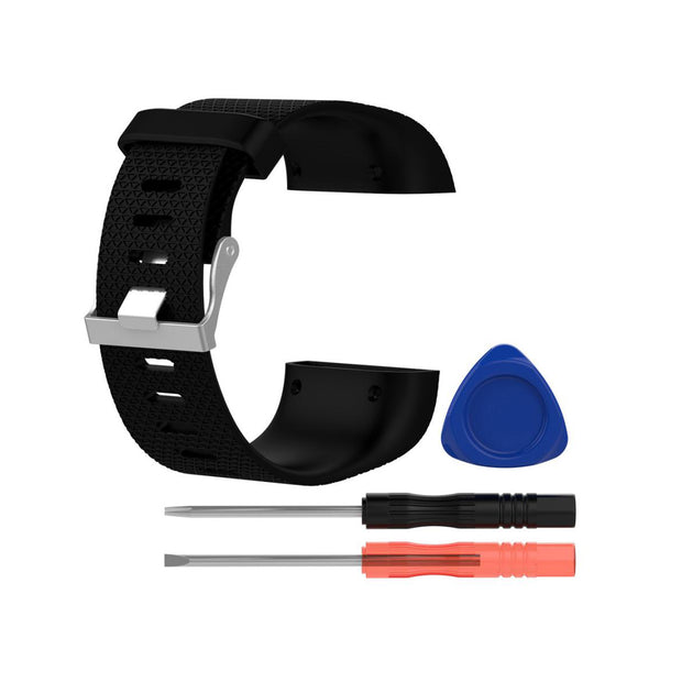 Mobile Mob Fitbit Surge Replacement Band Strap Kit Small / Black