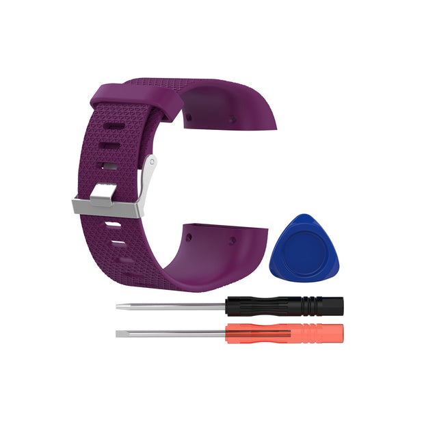 Mobile Mob Fitbit Surge Replacement Band Strap Kit Large / Dark Purple
