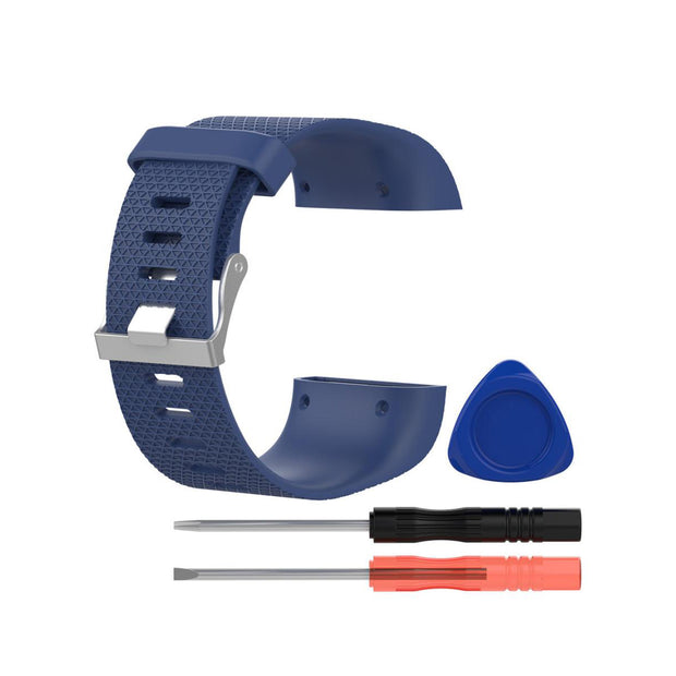 Mobile Mob Fitbit Surge Replacement Band Strap Kit Small / Navy Blue