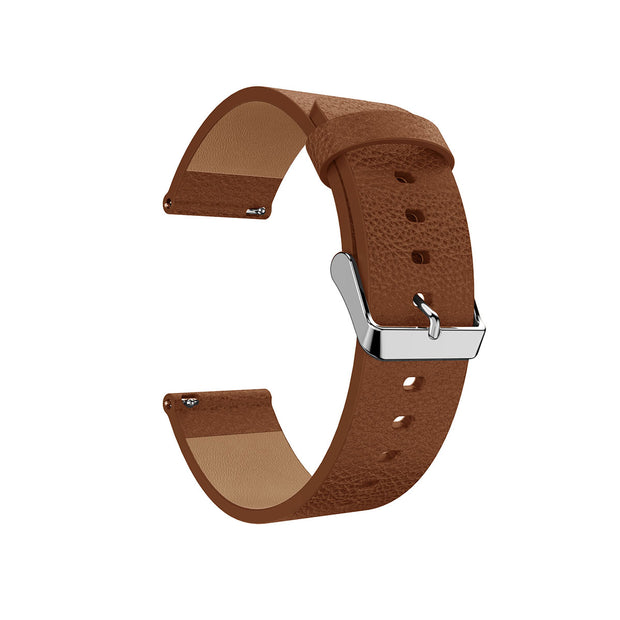 Leather Fitbit Versa Band Replacement Strap with Stainless Buckle