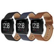 Mobile Mob Leather Fitbit Versa & 2 Band Replacement Strap with Buckle