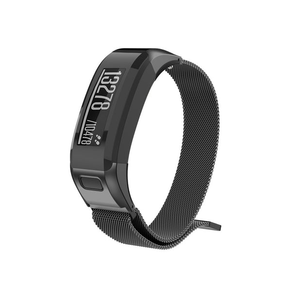 Mobile Mob Milanese Garmin Vivosmart HR Band Replacement Magnetic Lock Black Night